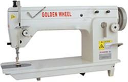 Машина челночного стежка строчки зиг-заг для средних и тяжелых материалов (Двухукольный одношаговый зиг-заг) GOLDEN WHEEL CS-2180 - фото 5446
